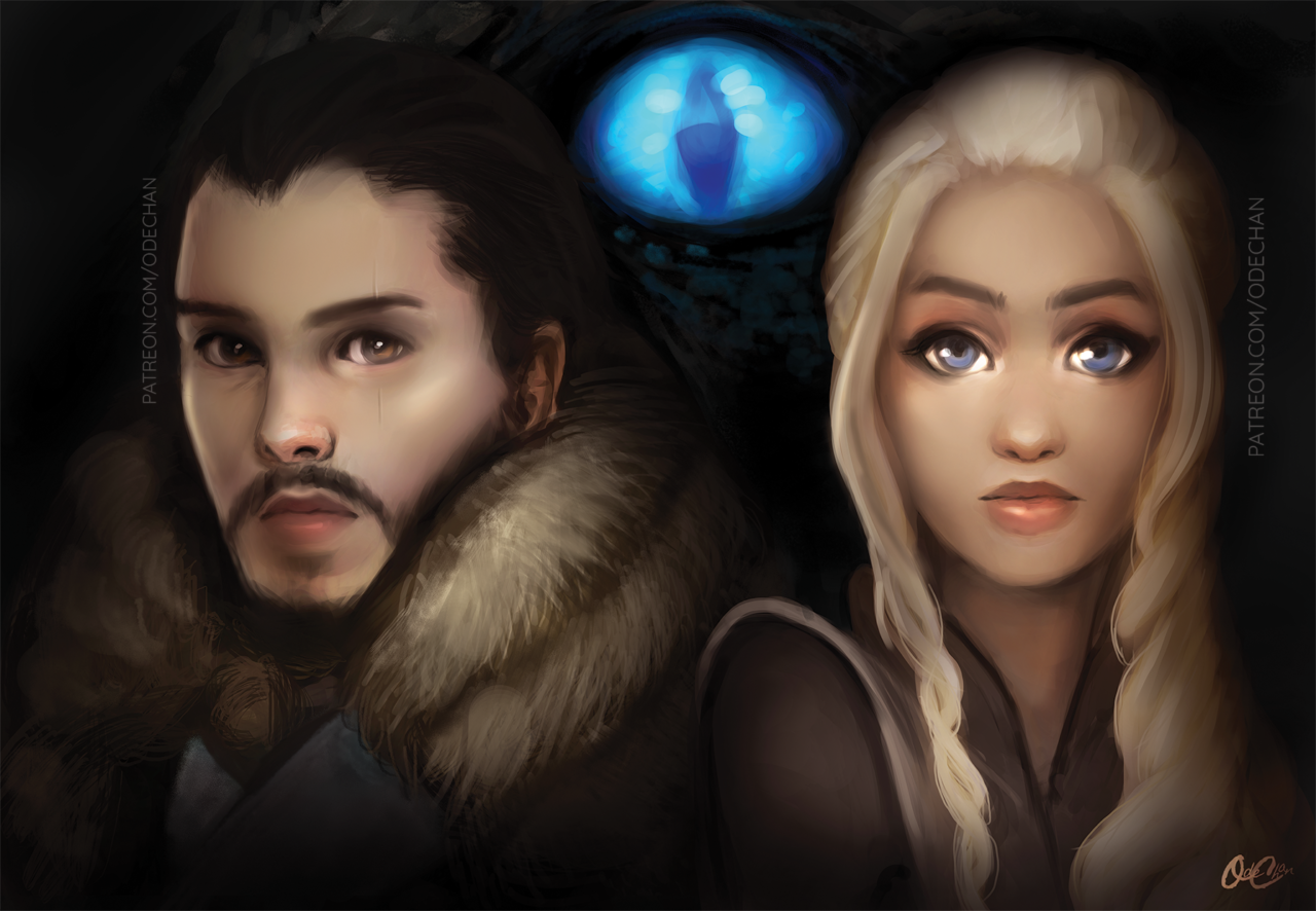 Game of Thrones: Jon Snow and Daenerys Targaryen