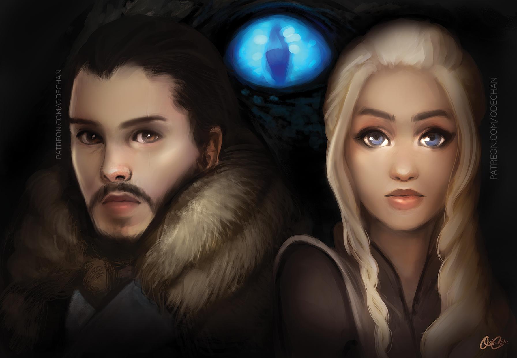 Game of Thrones: Jon Snow and Daenerys Targaryen